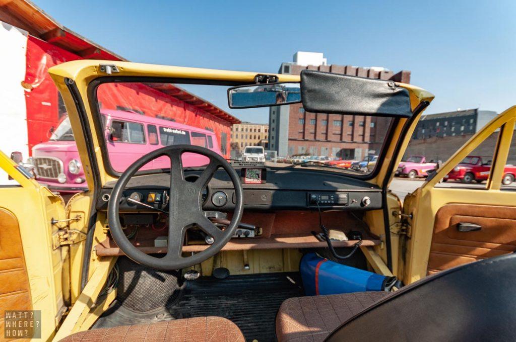 Most Trabi Safari Trabants are basic and true to the original condition.
