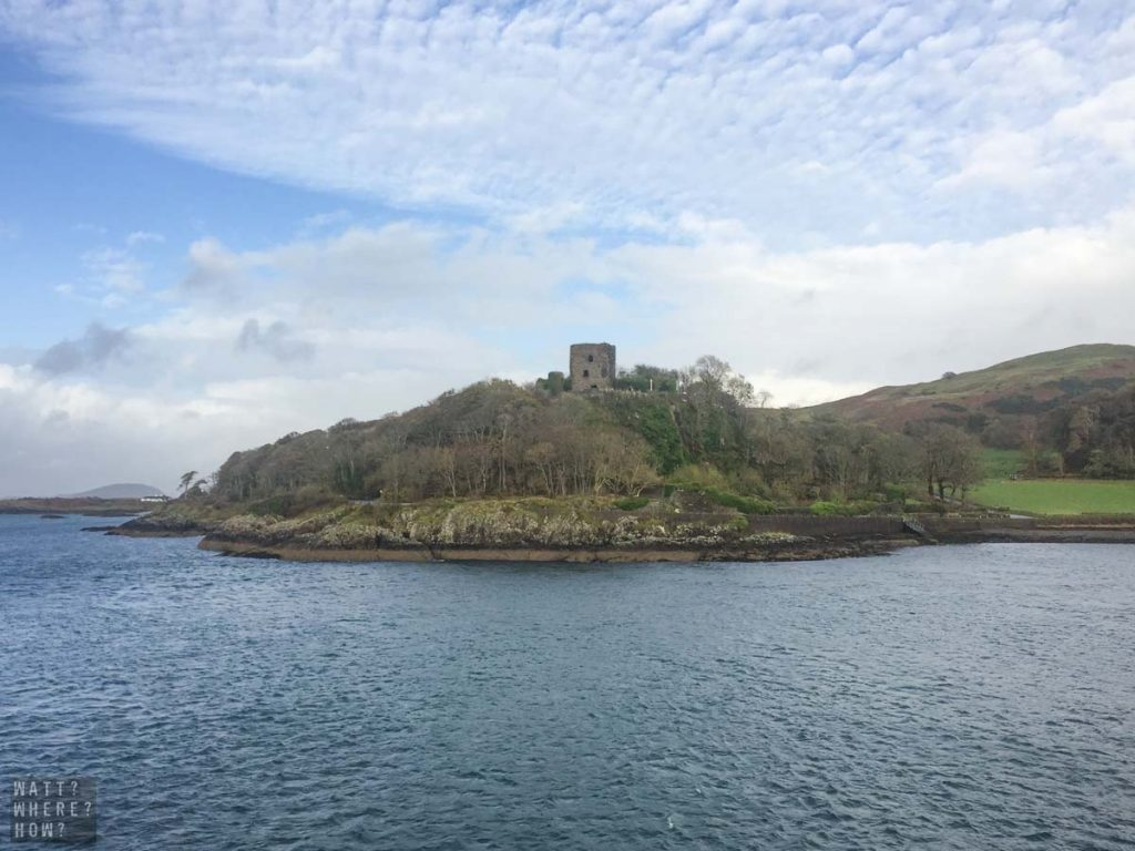 Dunollie Castle watches over the bay