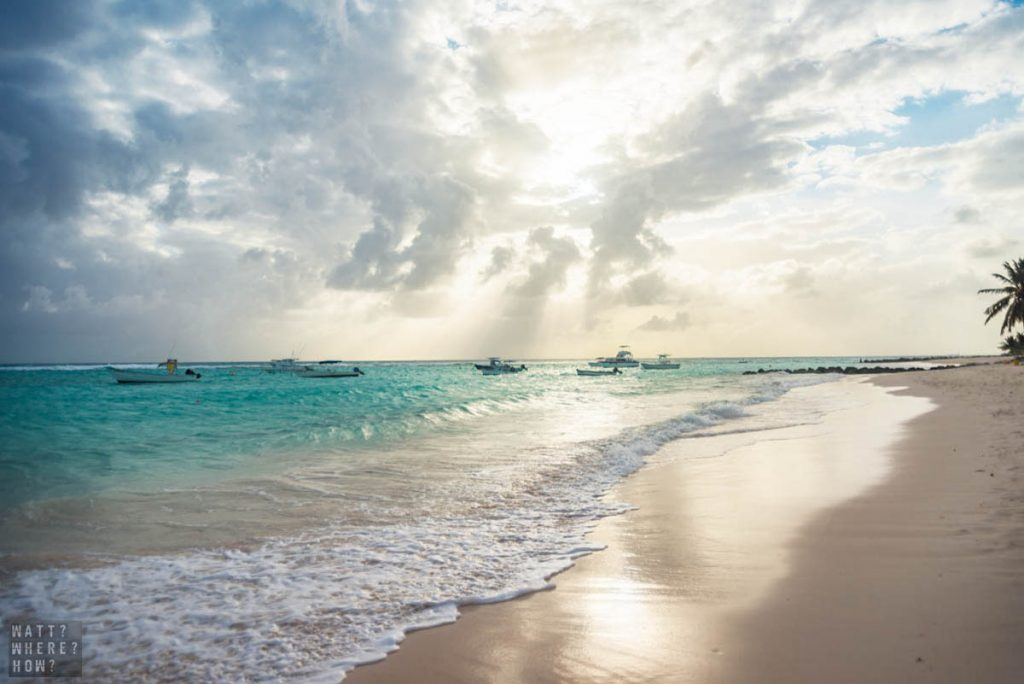 Worthing Beach Barbados is the perfect beach to soak in the Caribbean vibes.