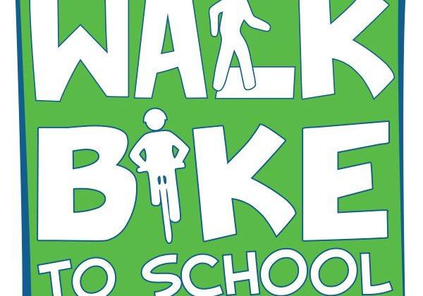walk bike to school logo