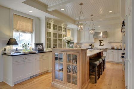 White enameled kitchen