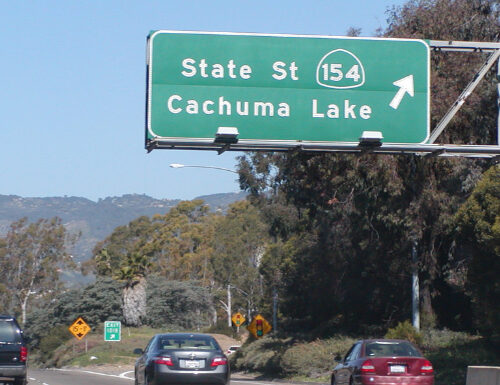 101 sign in Santa Barbara