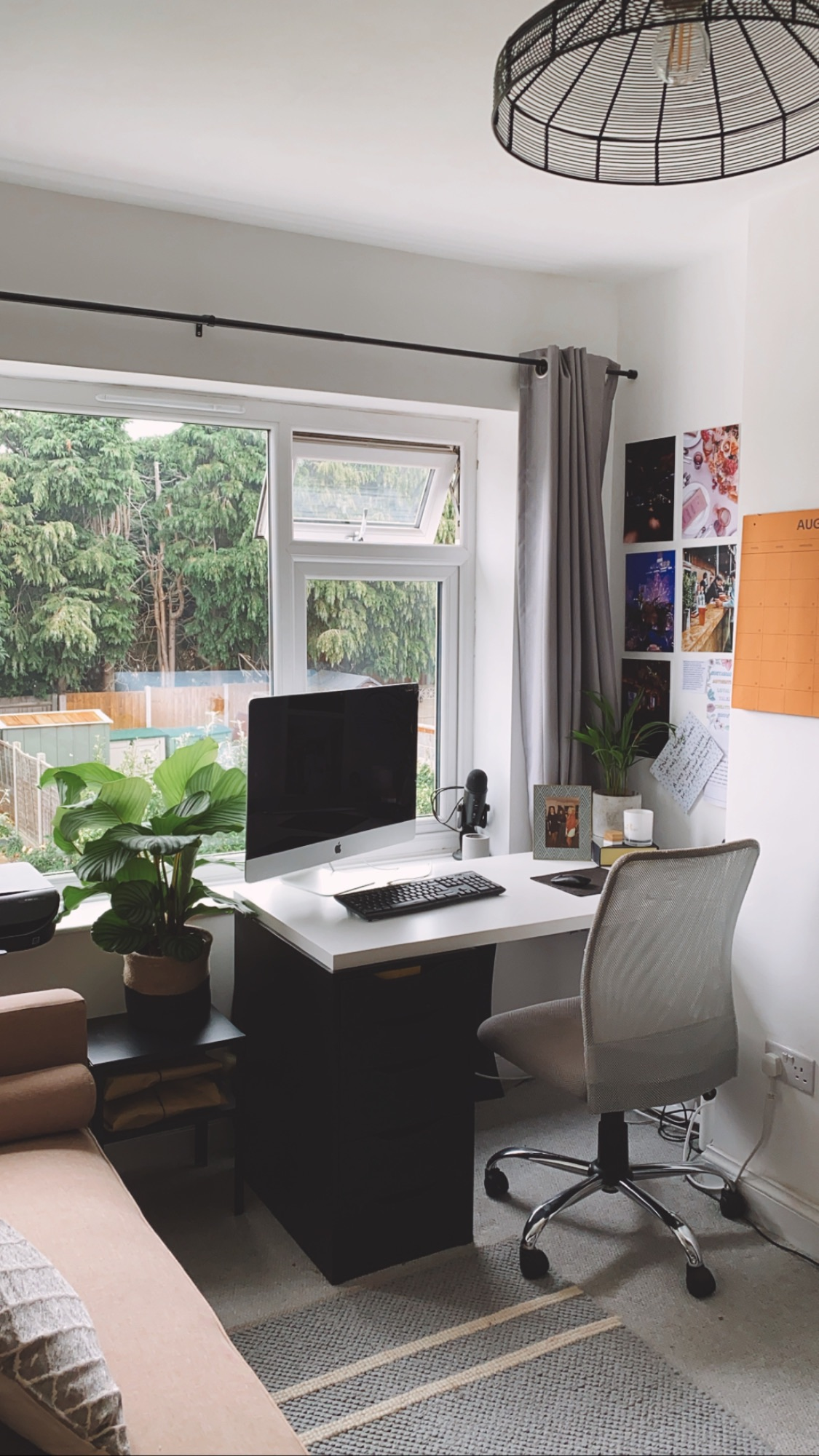 working from home calming space