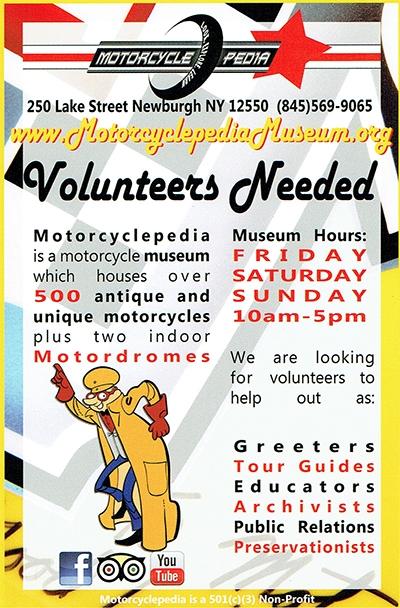 Become a Motorcyclepedia Museum Volunteer