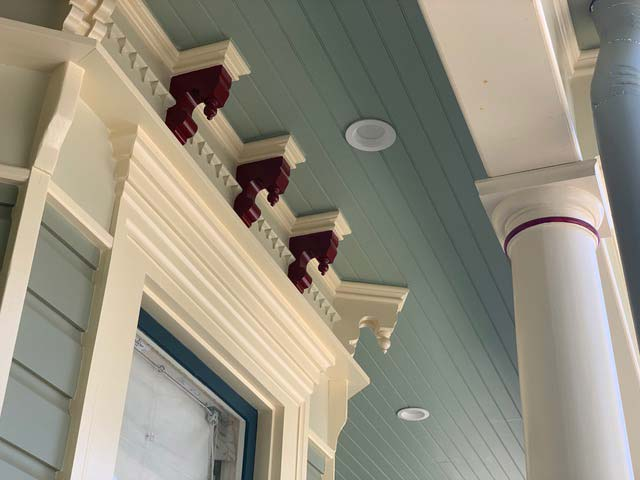 Custom home corbels, lintels and siding