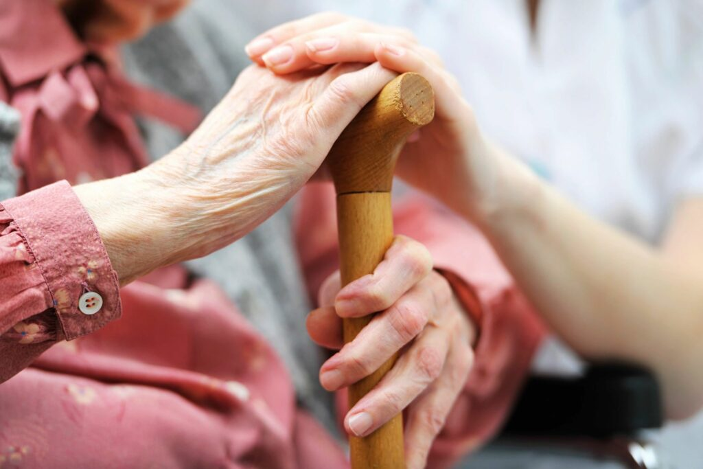 hands of different age representing elder law