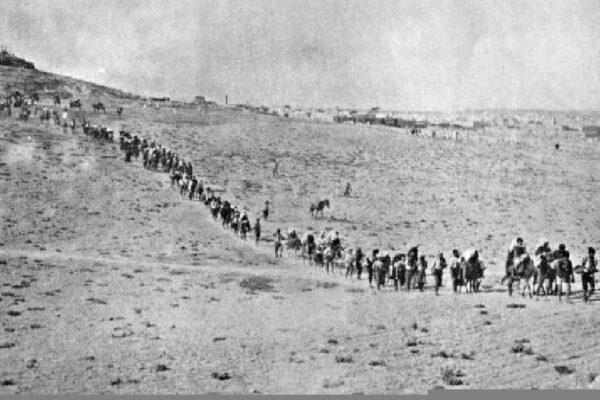 La marche de la mort durant le génocide arménien