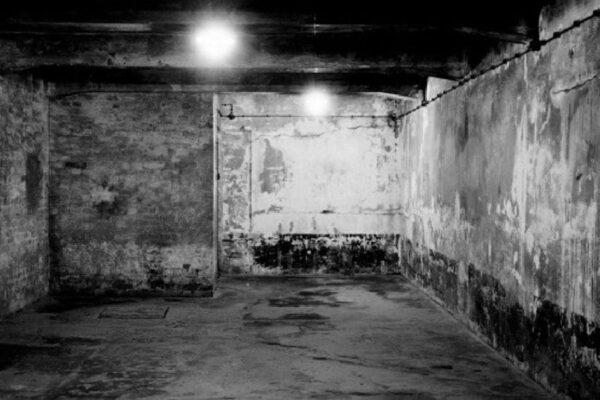 A gas chamber in Auschwitz