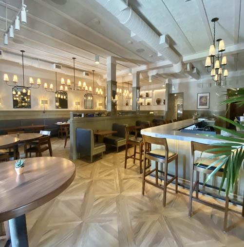 a restaurant dining room