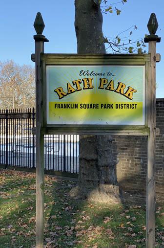 Rath Park sign