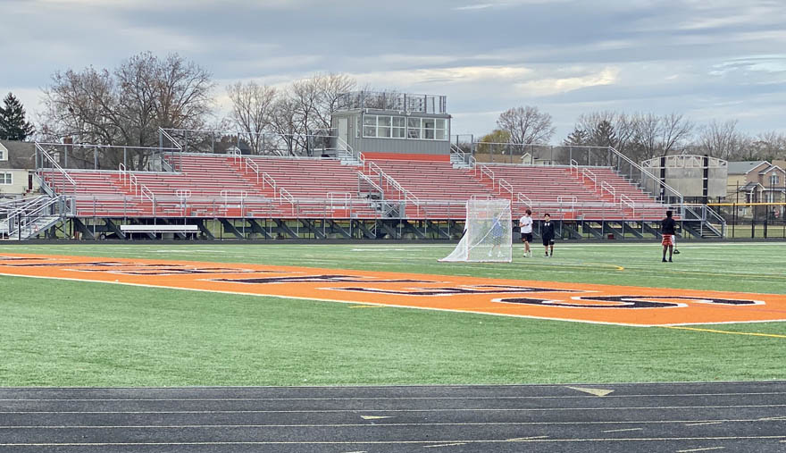 a high school stadium