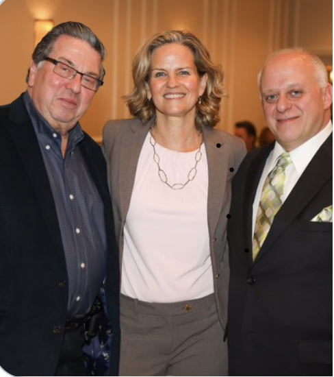 Phil (our new photographer), Nassau County Executive Laura Curran & Tom from Remey. (at our FSCC Installation Dinner Jan 2020