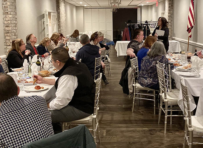 Group of Franklin Square Chamber members at meeting