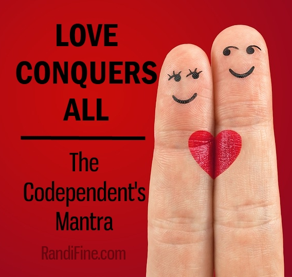Image of two fingers joined by a heart representing unhealthy relationship codependency.