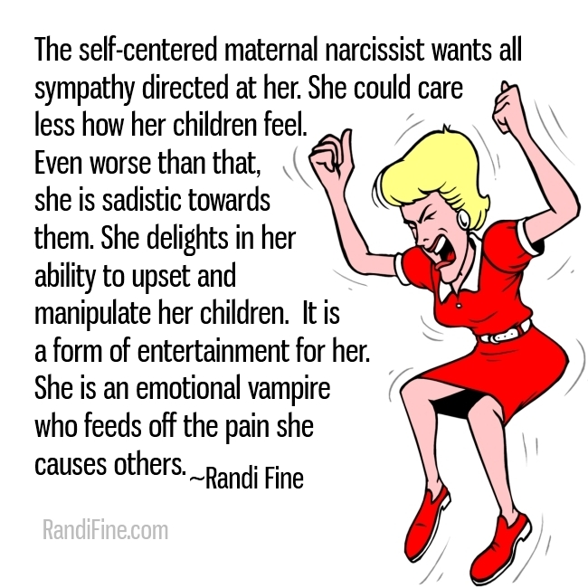Meme about narcissistic mothers image of angry blonde haired woman