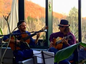 Latin and Gypsy Rumba Guitar Duo - Berto Sales and Vincent Zorn with Martin's Grill Food Truck