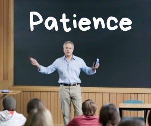 Can patience be learned?