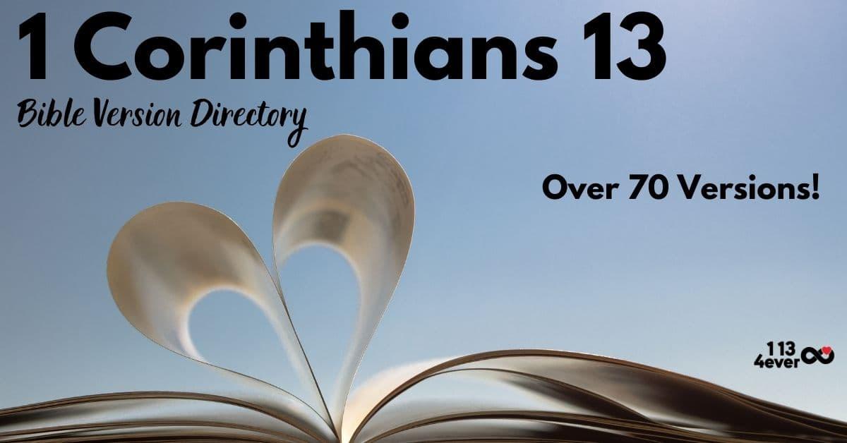 1 Corinthians 13 Bible Version Directory