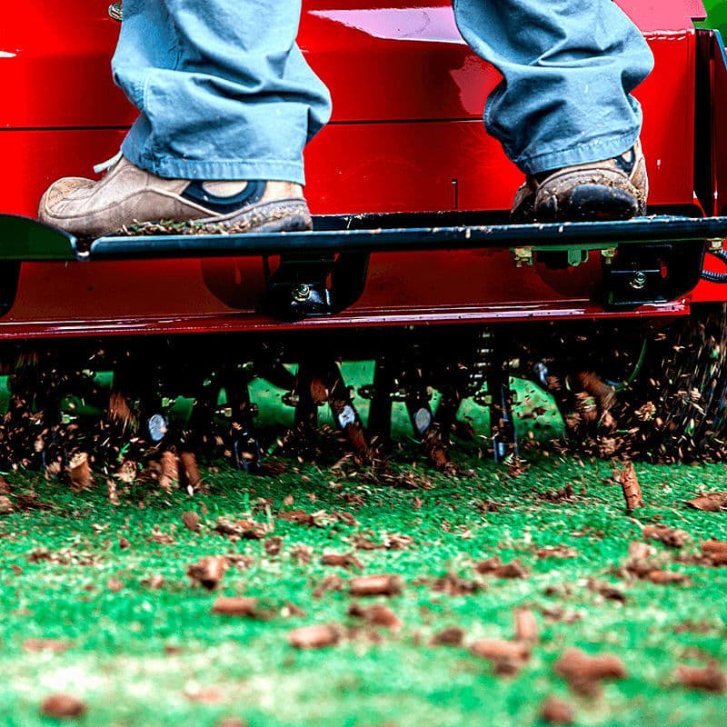 lawn care service westerville, aerating photo.