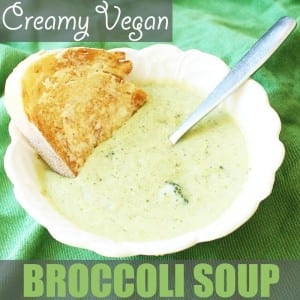 Healthy Broccoli Soup by Of Houses and Trees | Thick and creamy vegan broccoli soup... without the cream. Safe for vegans, lactose-intolerants and calorie counters alike. And it's delicious too!