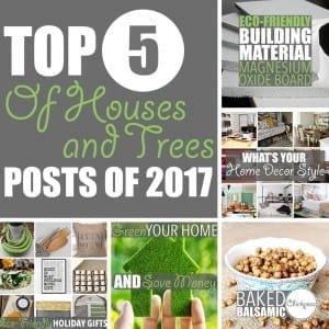 Sustainability Blog by Of Houses and Trees | From eco-friendly products and building materials, to healthy vegan eats - 2017 was a green year indeed for sustainability blog Of Houses and Trees!