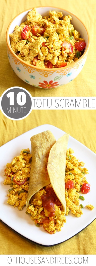 Every vegan has to have a tofu scramble recipe. Why? Because eggs. Spices like cumin and turmeric make this savoury dish perfect for any time of day.
