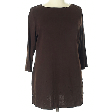 Brown women's tunic on a mannequin.