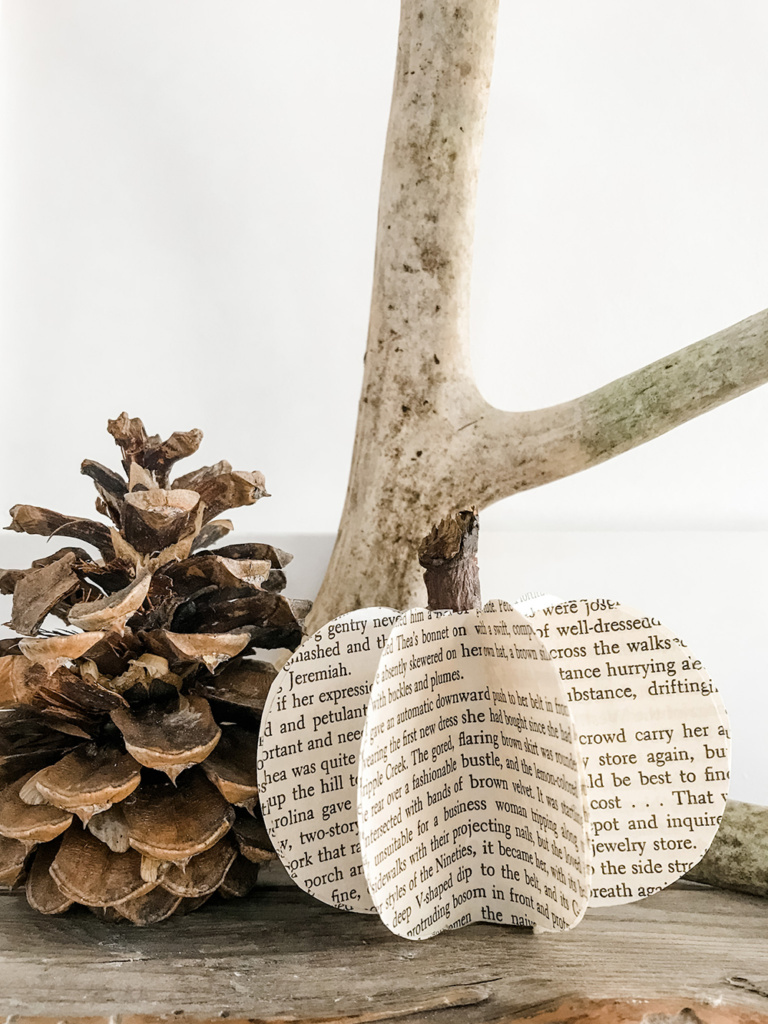 Looking for DIY fall decor that's easy and not too over the top? Well count your lucky pumpkins because here are three simple, minimalist fall decor ideas! Including this book page pumpkin DIY!