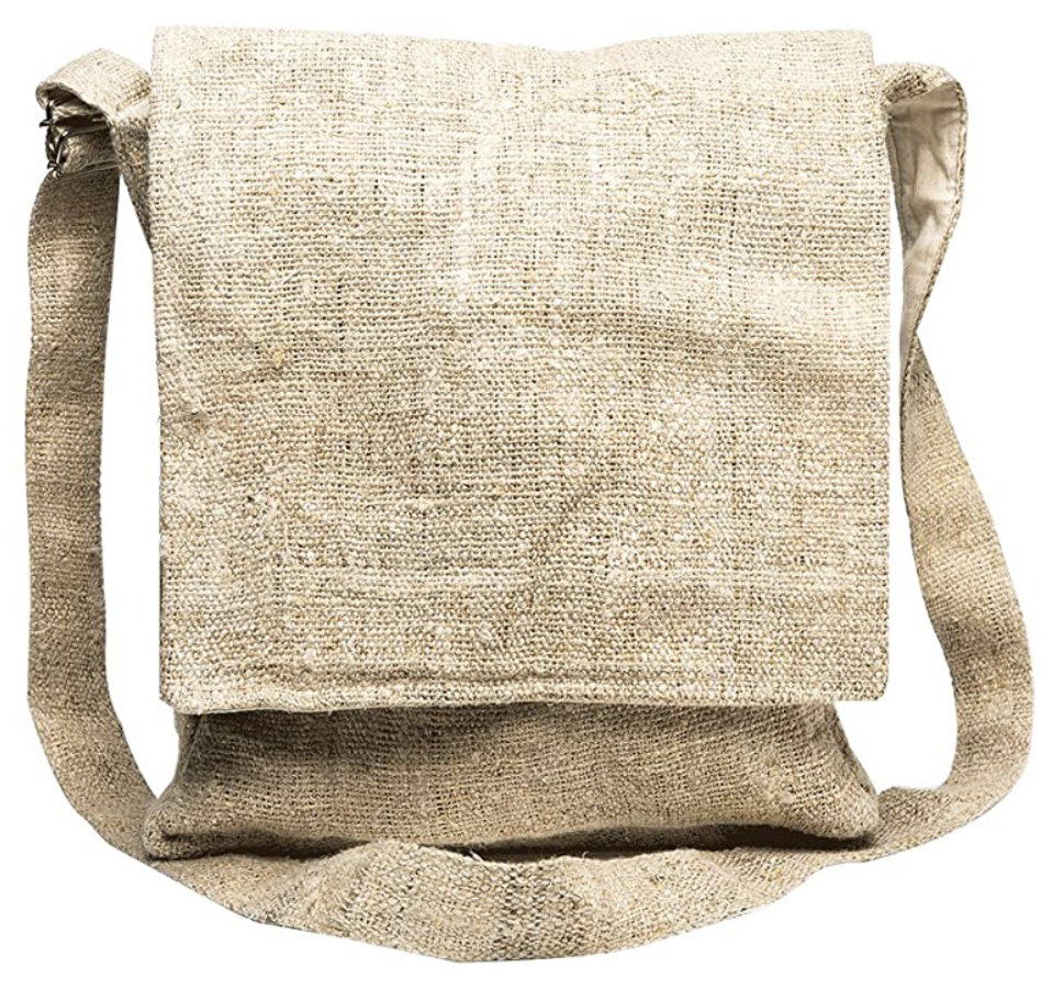 Looking for eco-friendly dance supplies? You're going to need an earth-friendly bag to carry them all in - like this hemp messenger bag.