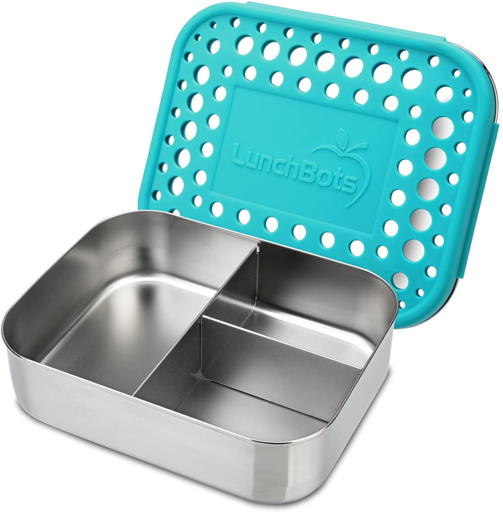 A stainless steel lunchbox, perfect for healthy snacks, would be a great addition to your eco-friendly dance supplies stash.