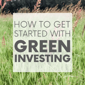 """A field of tall green grass with the words """"how to get started with green investing."""" Click to visit post."""