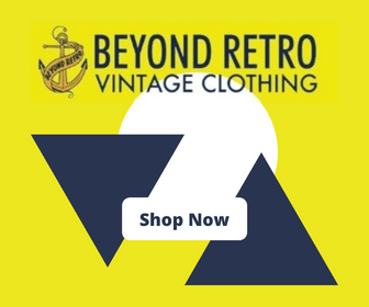 Beyond Retro logo on a bright yellow background with the words