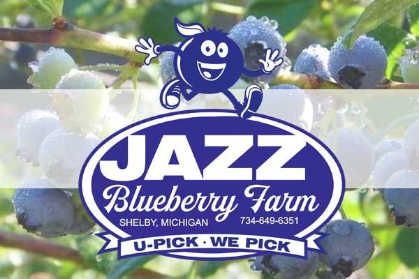 jazz blueberry farm badge and logo