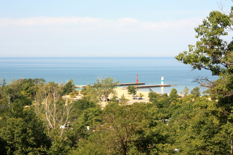 old baldy view pentwater michigan