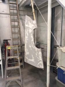 Puffin rudder hanging up