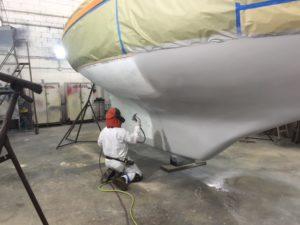 Sea Hawk Tuff Stuff epoxy on bottom of Puffin