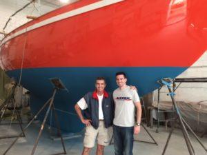 Istvan Kopar with team manager Robert Farrelly