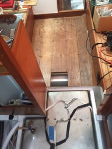 Dry fit for the floor boards