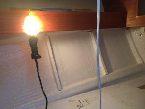 Fwd cabin also needs insulation
