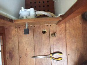 dipstick hole in floorboard