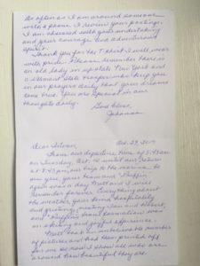 Johanna's card to Istvan