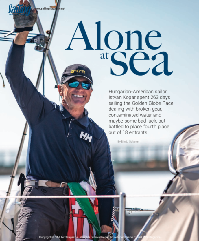 Sailing Magazine Alone at Sea Image