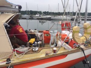 Peter Orban joined me on Puffin as a full-time helper In Hamble