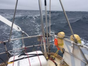 Windpilot in action during the Atlantic crossing