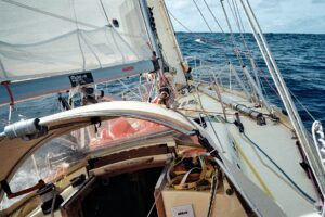 Finally got some decent wind after leaving the Bay of Biscay