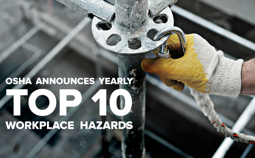 Fall Protection Cited as #1 Workplace Hazard in 2016