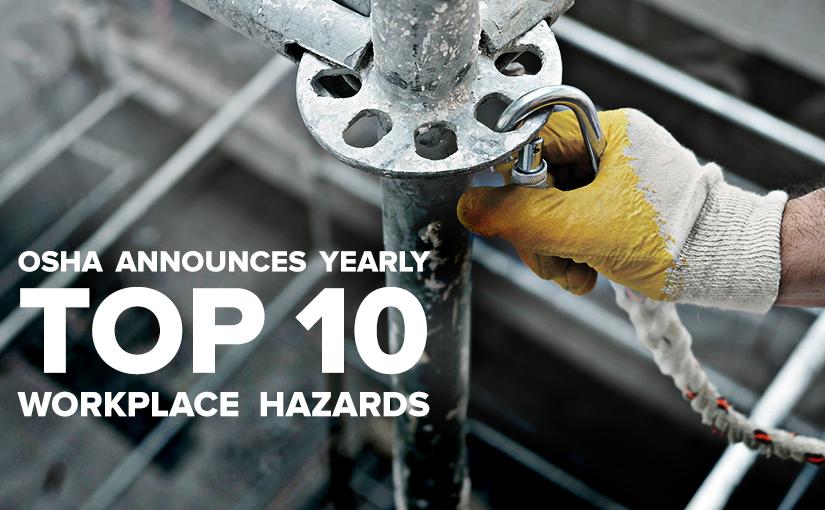 U.S Standard Products top 10 workplace hazards 2016