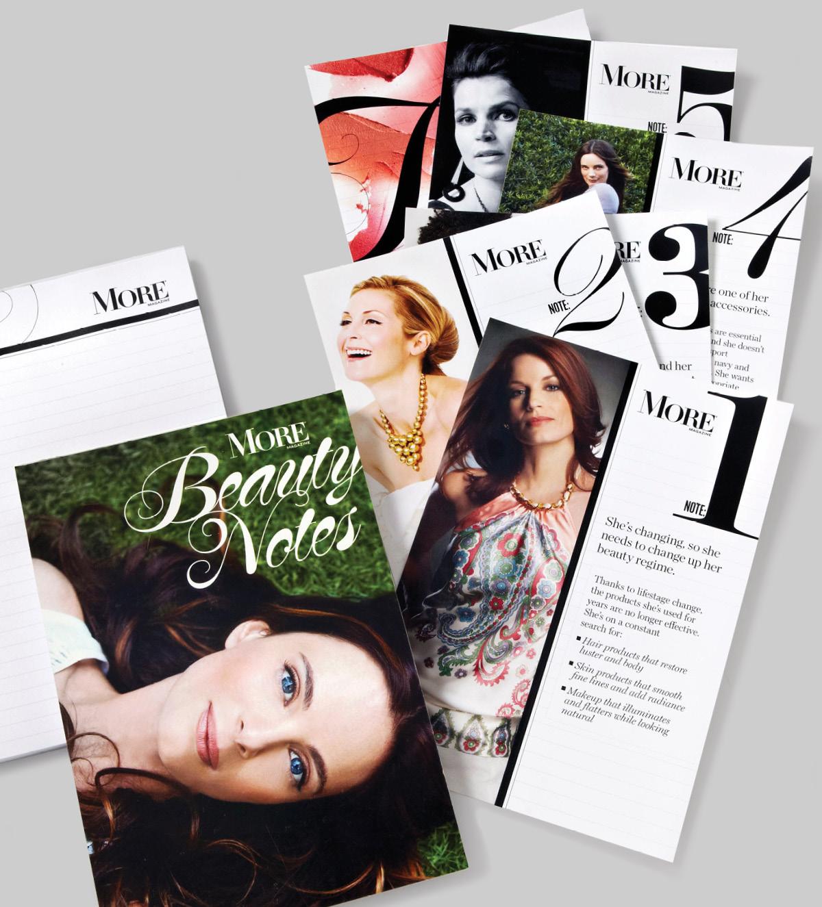 ARTWORK: MORE Magazine Beauty Notes Notepad