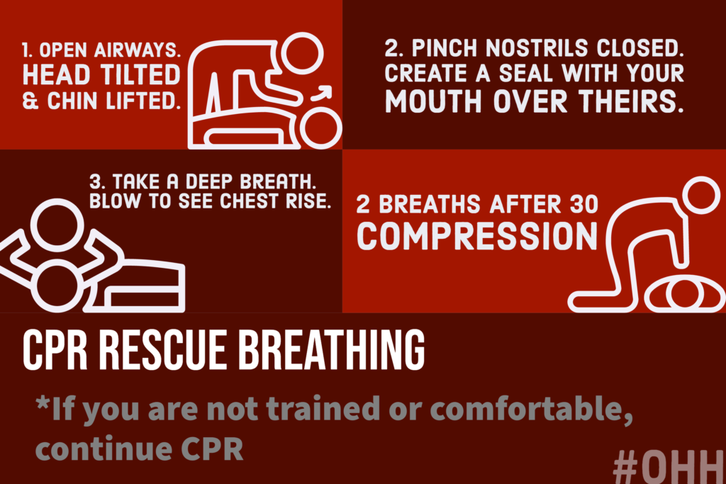 CPR rescue breathing how to do rescue breathing