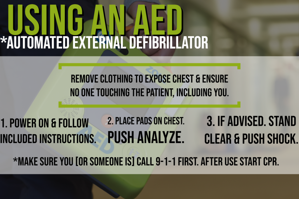 How to use an aed aed infographic aed steps